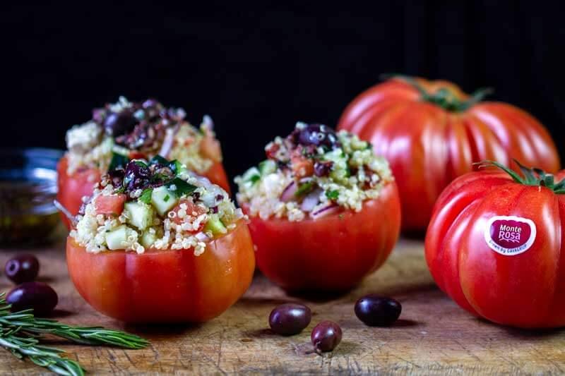 Tomàquet monterosa farcit de quinoa